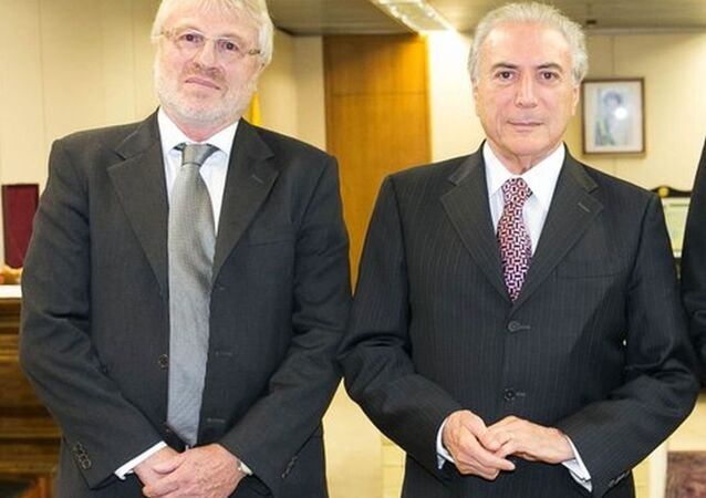 Denis Rosenfield ao lado do presidente Michel Temer