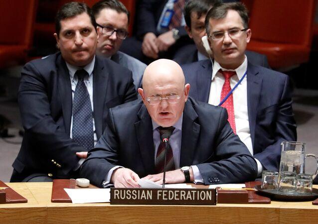 Embaixador russo para a ONU, Vassily Nebenzia, fala sobre o envenenamento dos Skripals no Reino Unido