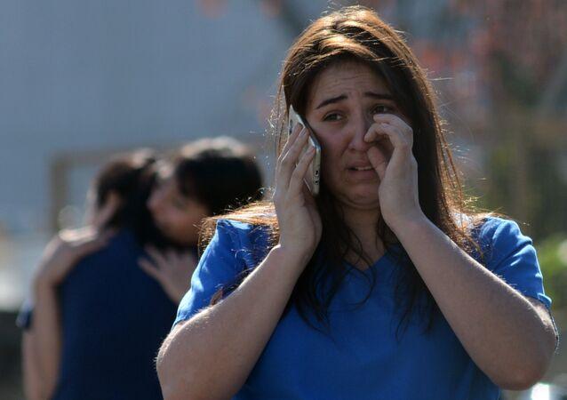 Explosão de gás em um hospital privado da cidade de Concepción, no Chile, em 21 de abril de 2018