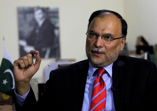 Ahsan Iqbal em foto de junho de 2017.
