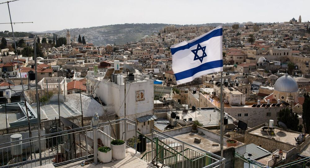 Bandeira de Israel em Jerusalém (imagem referencial)