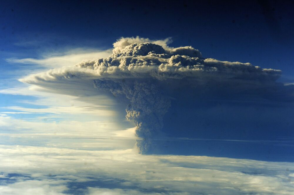 Vulcão Puyehue, que se situa na Cordilheira dos Andes, sul do Chile