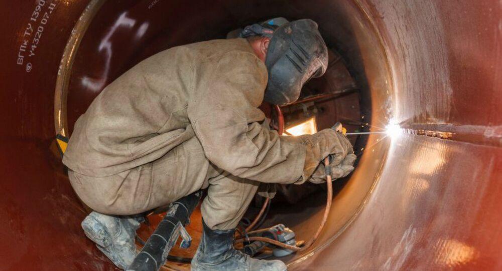 Construção do gasoduto Force of Siberia