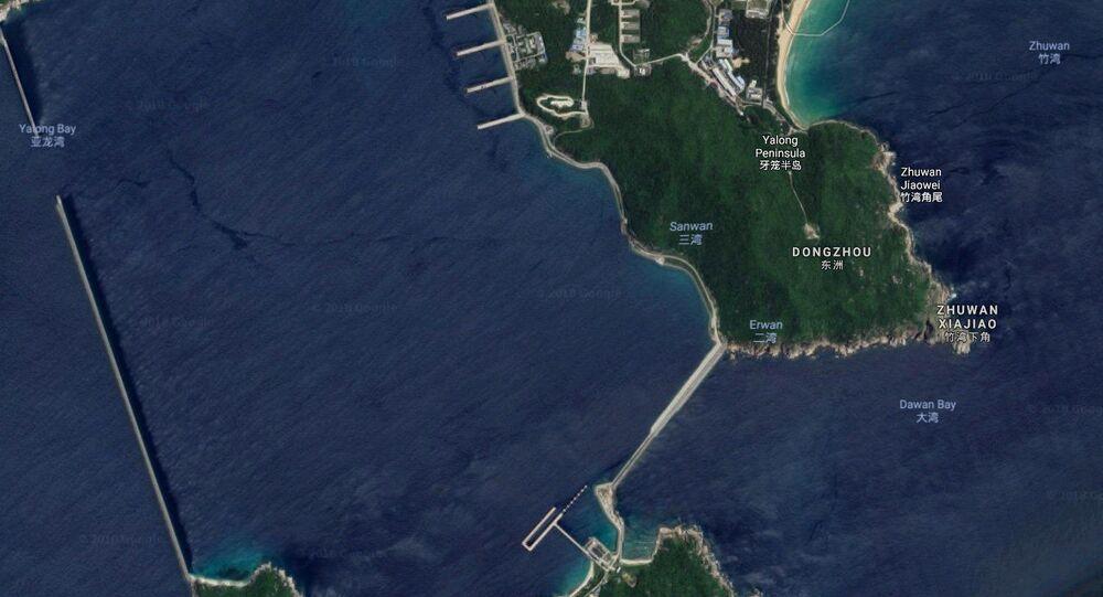 Base naval chinesa de Yulin, na ilha de Hainan