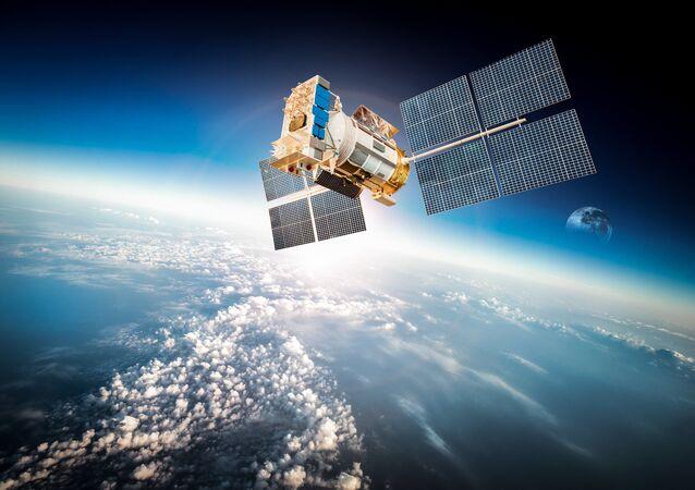 Satélite em órbita terrestre
