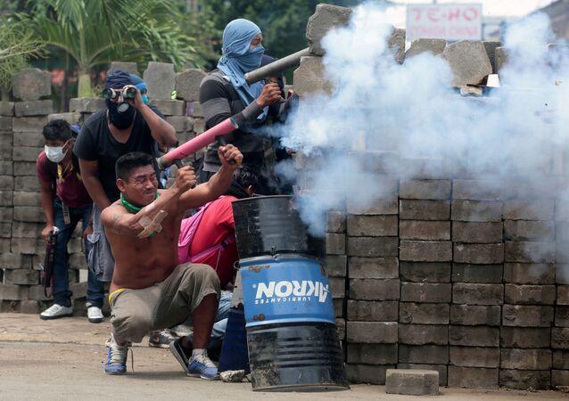 Manifestações contra o governo de Daniel Ortega na Nicarágua.