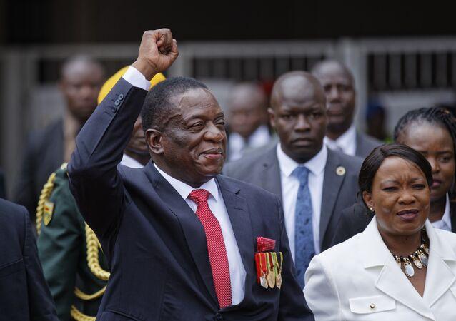 Emmerson Mnangagwa, atual presidente do Zimbábue