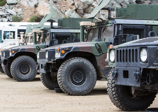 Veículos militares dos EUA (imagem referencial)