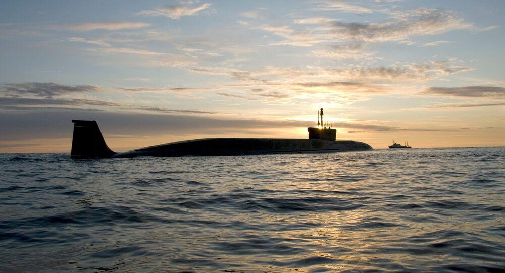 Submarino nuclear russo da classe Borey Yuri Dolgoruky (foto de arquivo)