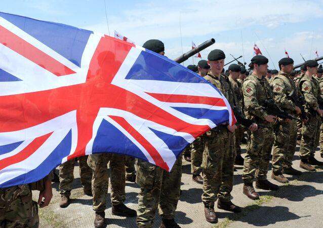 Militares britânicos na cerimônia de abertura dos exercícios militares conjuntos Noble Partner 2016 (foto de arquivo), Geórgia