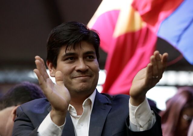 Presidential candidate of the ruling Citizens' Action Party (PAC), Carlos Alvarado