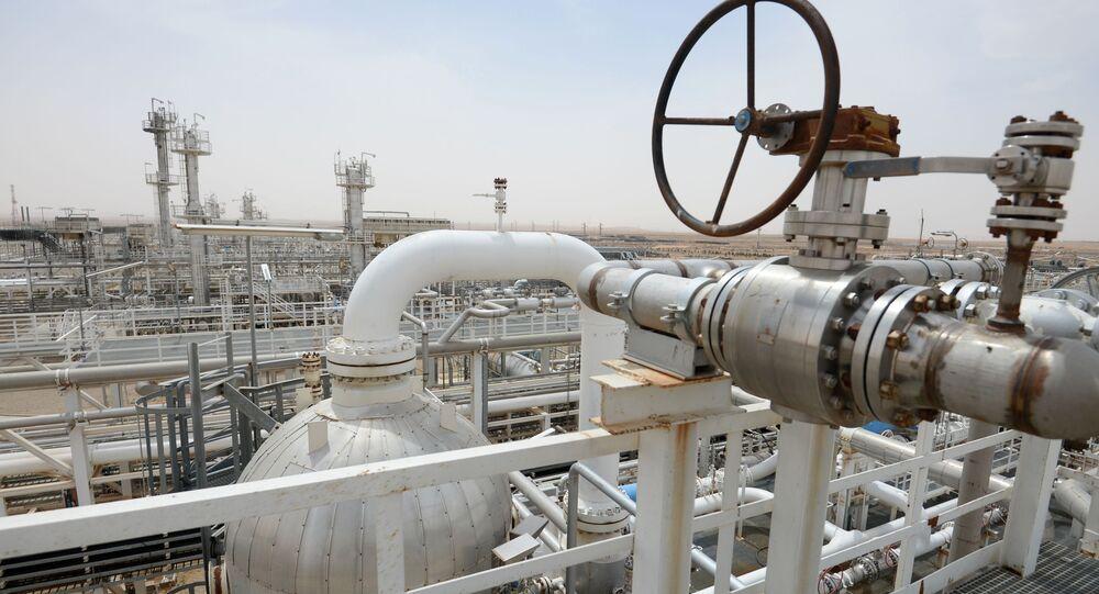Refinaria de gás perto da cidade síria de Homs