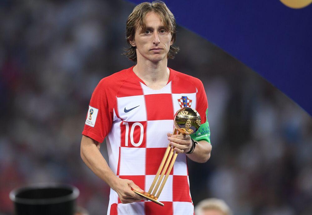Luka Modric, craque da Croácia, eleito o melhor jogador da Copa do Mundo da Rússia