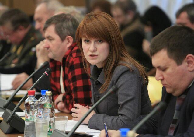Cidadã russa Maria Butina, presa nos Estados Unidos em 15 de julho de 2018 sob suspeita de espionagem