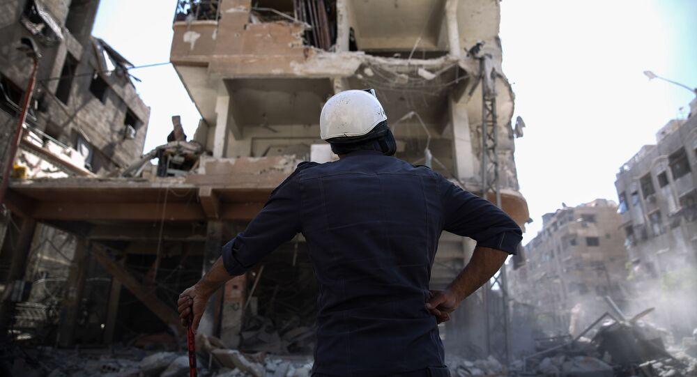 Capacetes Brancos na Síria, em 5 de outubro de 2016 (foto de arquivo)