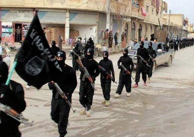 Combatentes do Estado Islâmico (EI).