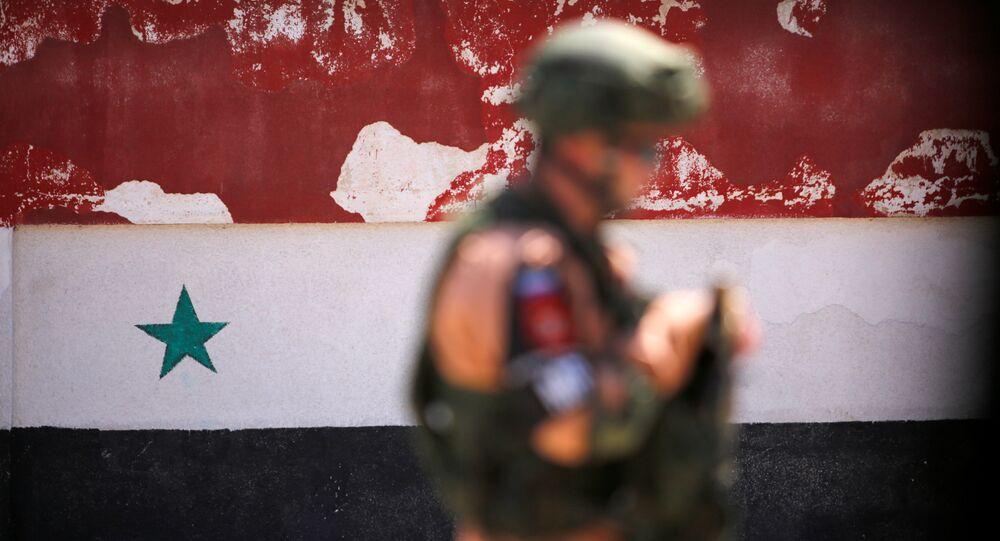 Soldado russo na Síria (arquivo)