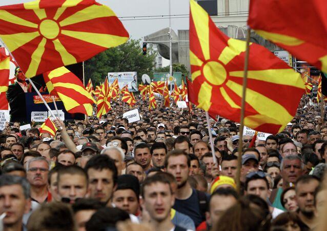 Protestos na Macedônia