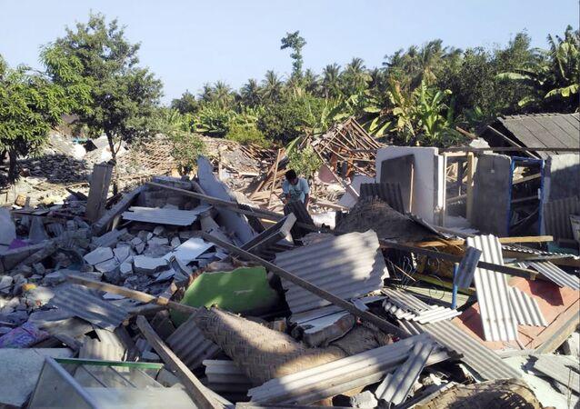 Terremoto na ilha de Lombok, na Indonésia