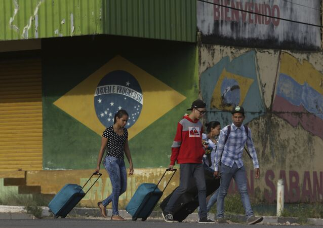 Migrantes venezolanos en el estado de Roraima, Brasil