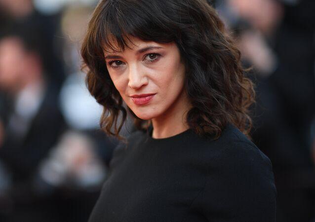 Asia Argento no Festival de Cannes, sul da França em maio deste ano.
