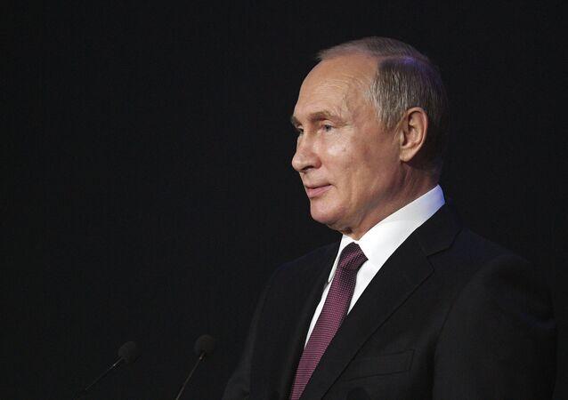 Vladimir Putin, presidente de Rússia, em 6 de julho de 2018