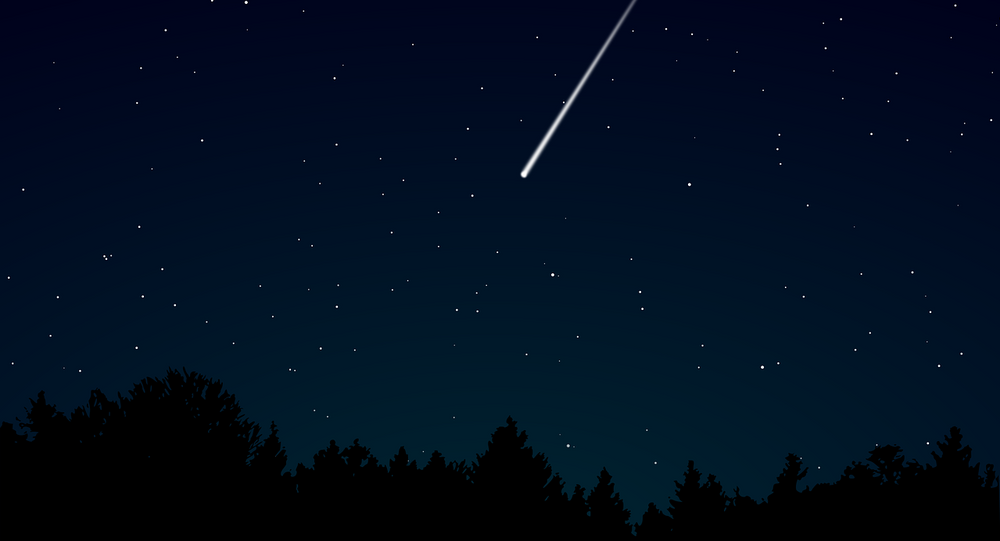Meteoro cruzando céu noturno (imagem ilustrativa)