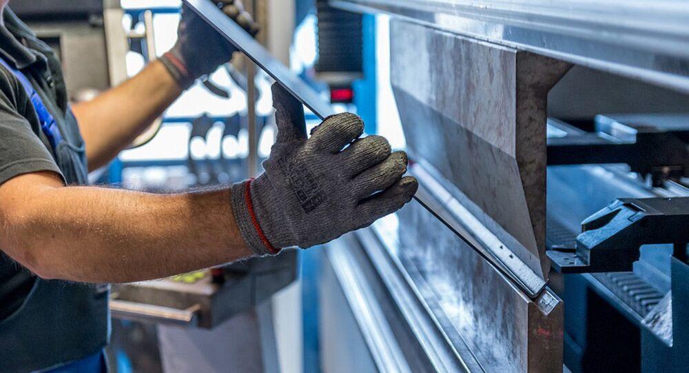Produção da folha de aço (foto referencial)