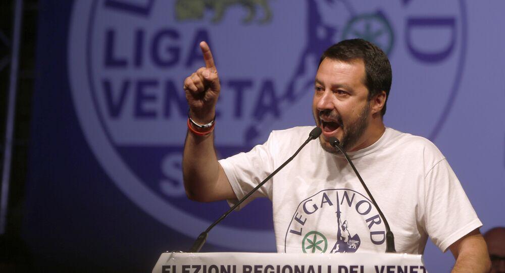 Matteo Salvini, atual ministro do Interior da Itália