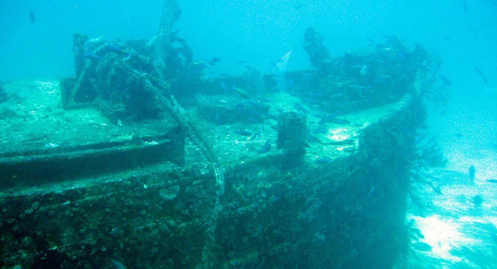 Naufrágio no fundo marítimo (imagem referencial)