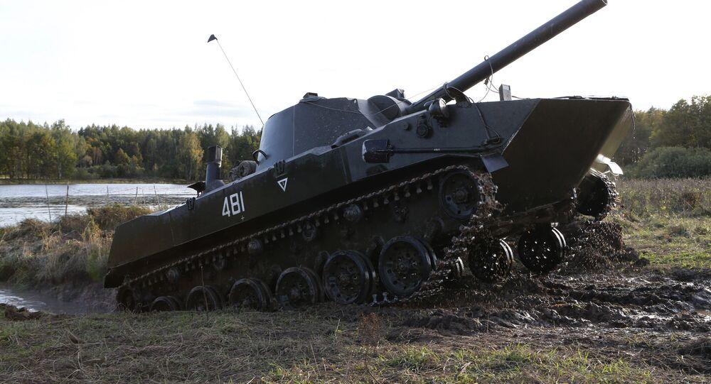 Peça de artilharia autopropulsada 2S9 Nona-S de 120 mm (imagem referencial)
