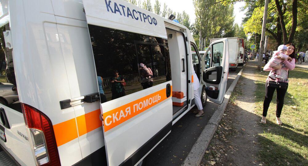 Veículo de emergência médica em Donetsk (foto de arquivo).