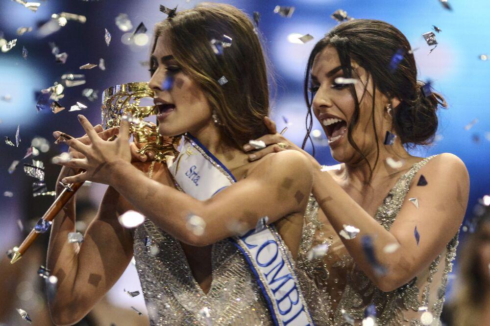 Vencedora do concurso Miss Colômbia 2018, Valeria Morales, em Valle del Cauca