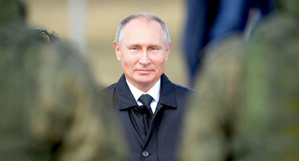 Vladimir Putin durante os exercícios militares de grande escala Vostok 2018, 13 de setembro de 2018