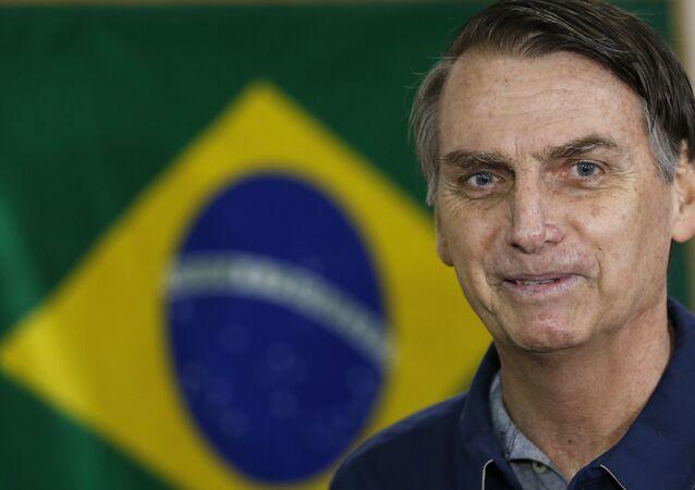 Candidato à presidência Jair Bolsonaro, 7 de outubro de 2018