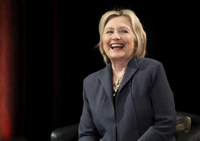 Hillary Clinton gives a lecture in the Edmund Burke Lecture Theatre, Trinity College Dublin ahead of receiving an honorary degree from the university, in Dublin, Friday, June 22, 2018