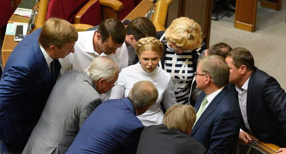 Yulia Tymoshenko during a meeting of the Verkhovna Rada of Ukraine in Kiev (File)