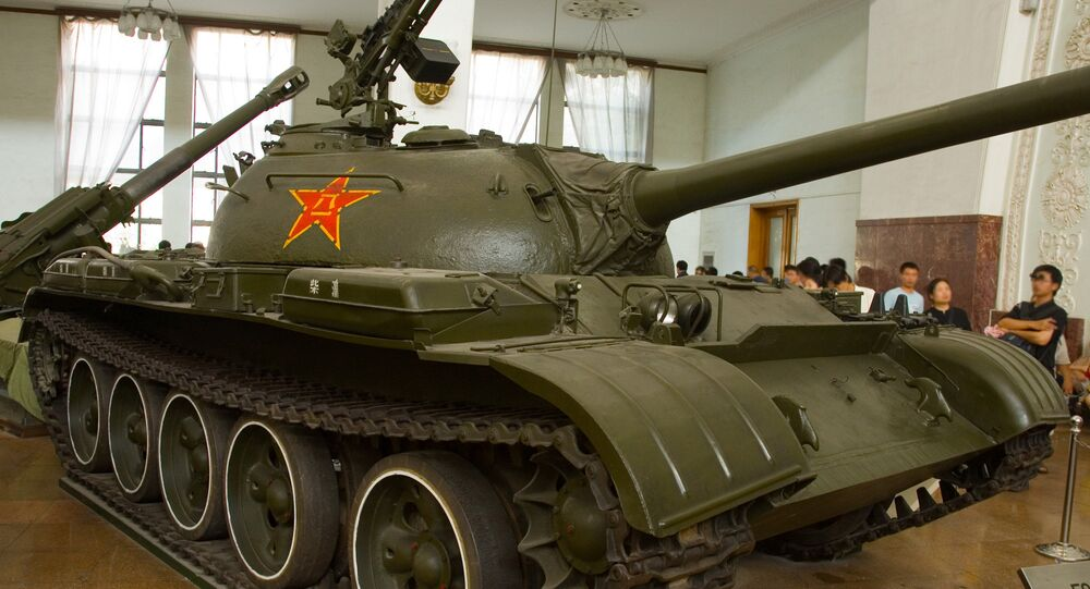 Tanque chinês tipo 59 em Pequim