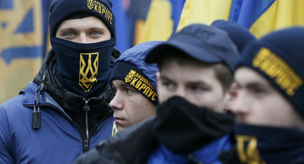 Nacionalistas do Euromaidan em Kiev