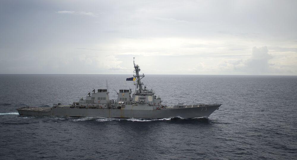 Destróier norte-americano USS Decatur (imagem referencial)