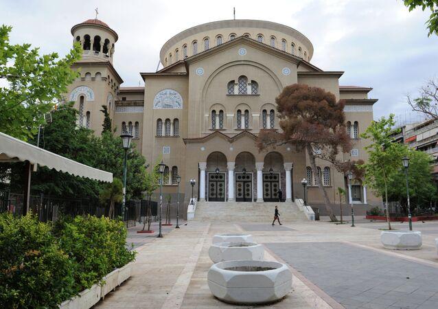 A Igreja de São Panteleimon em Atenas.