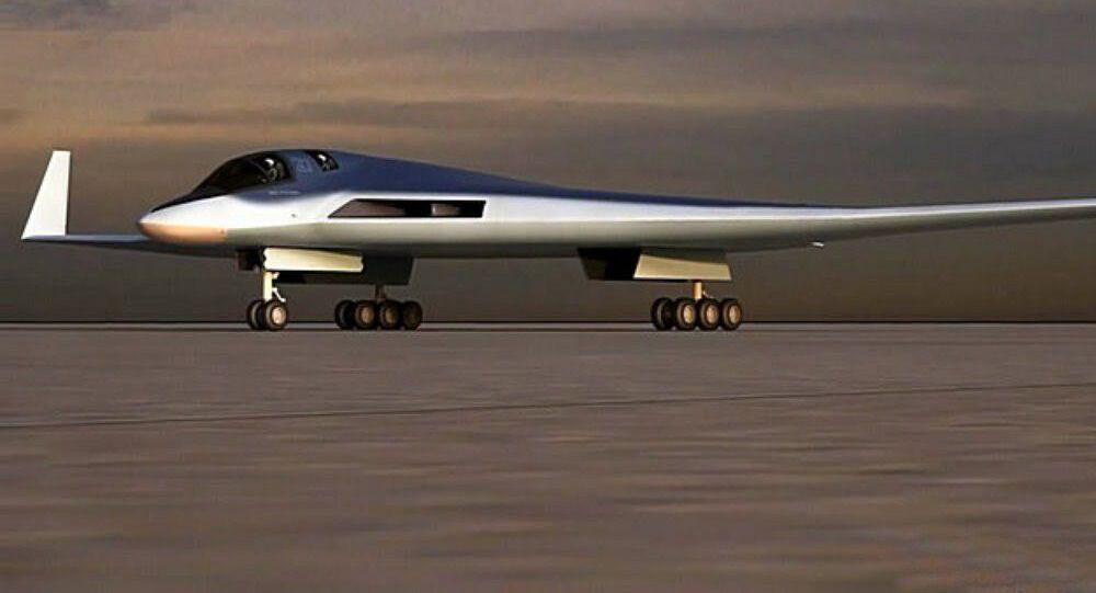 Modelo do sistema aéreo inovador para aviação de longo alcance (PAK DA)