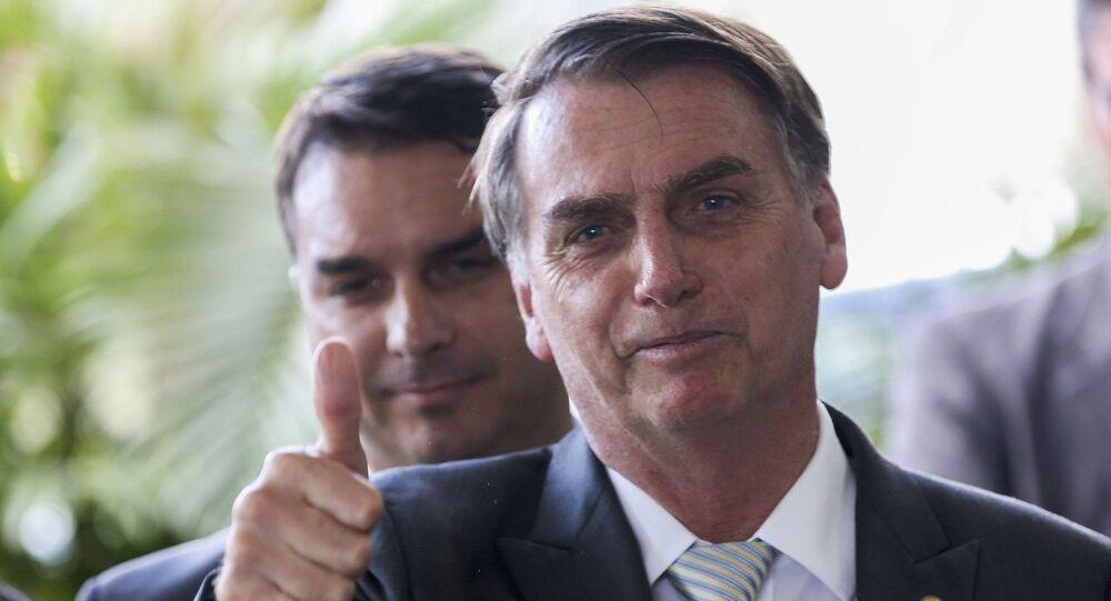 Presidente Eleito Jair Bolsonaro em entrevista no CCBB em Brasília