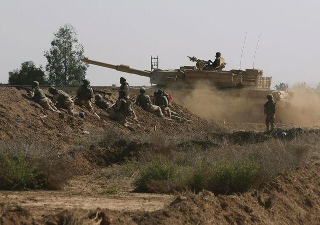 Forças armadas dos EUA participam de treinamento no Iraque (arquivo)