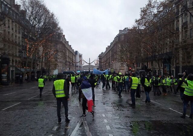 Protestos do movimento coletes amarelos em Paris, em 1 de dezembro