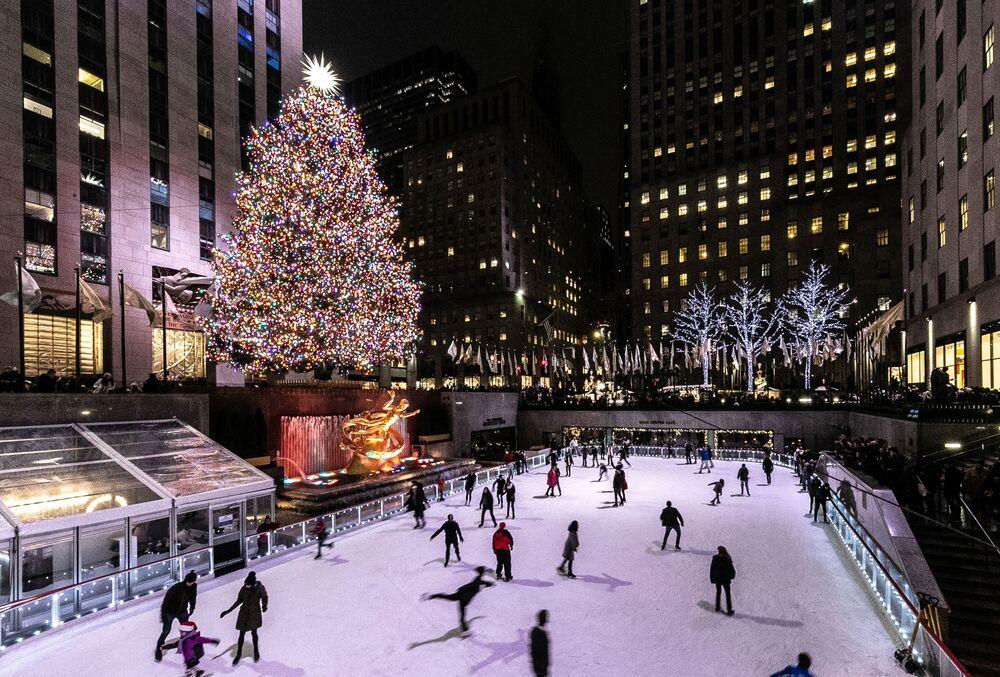 Árvore de Natal no Rockefeller Center, em Nova York