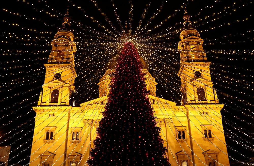 Árvore de Natal em Budapeste