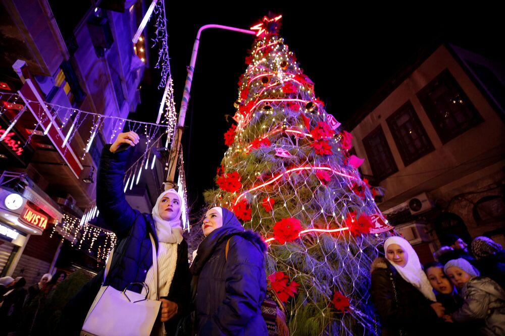 Árvore de Natal em Damasco