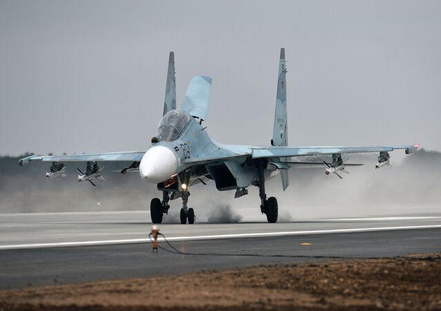 Caça Su-30M2 (imagem referencial)