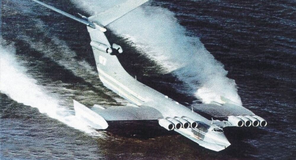 Ecranoplano soviético monstro do mar Cáspio